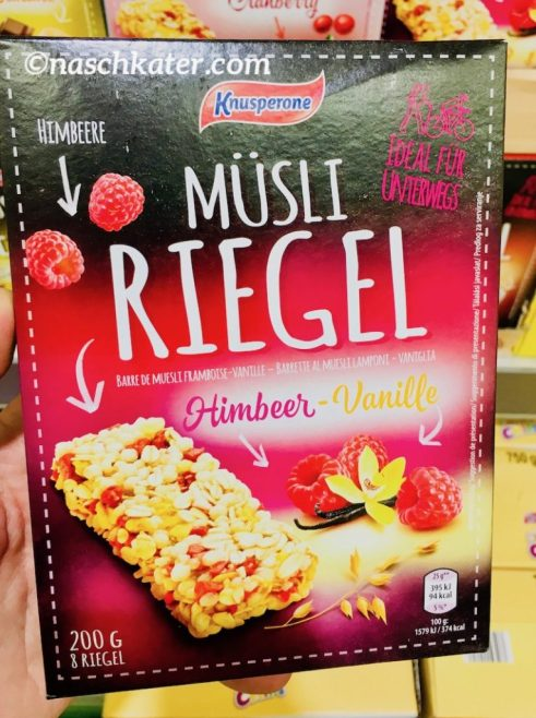 Knusperone Müsliriegel Himbeer-Vanille