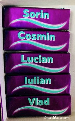 Wrigleys Kaugummipackungen mit Namen