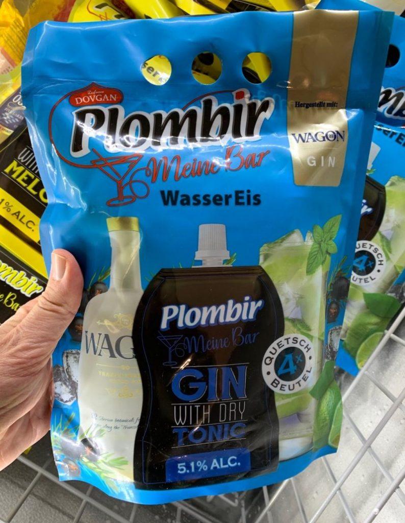 Dovgan Plombir Meine Bar Wassereis Gin with dry Tonic 4er Quetschies