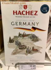 Hachez Greetings from Germany Confiserie Pralines ohne Alkohol Travel EDition