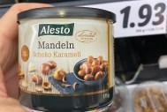 Lidl Alesto Mandeln Schoko-Karamell 175G
