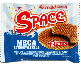 Mega Stroopwafels Space 2erPack Gross+Lecker Holland