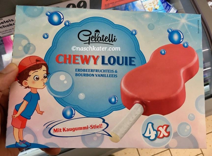 Gelatelli Chewy Louie Erdbeerfruchteis mit Bourbnvanielle und Kaugummi-Stil