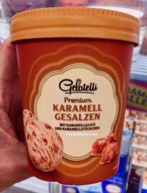 Lidl Gelatelli Premium Karamell Gesalzen Eiskrem