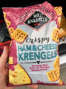 Mr Knabbits crispy Ham+Cheese Krengels Knusprige Maisgitter mit Schinken-Käsegeschmack