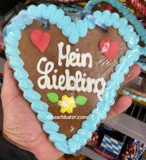 Oktoberfest Lebkuchenherz Mein Liebling