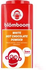 Blöboom-Kakao ist nicht nur witzig und formschön verpackt, der Kakao ist auch in Bio-Qualität. Hier die Dose mit weißem Schokoladenpulver.