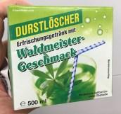 Durstlöscher Efrischungsgetränk mit Waldmeister-Geschmack