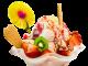 Eisbecher mit Röllchen pixabay CC0