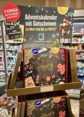 Lindt Edeka Adventskalender mit Gutscheinen Display