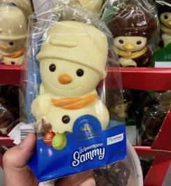 Aldi Reichsgraf Schneemann Sammy weiße SChokolade Hohlfigur
