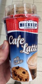 Lidl Mcennedy Cafe Latte mit Cookie