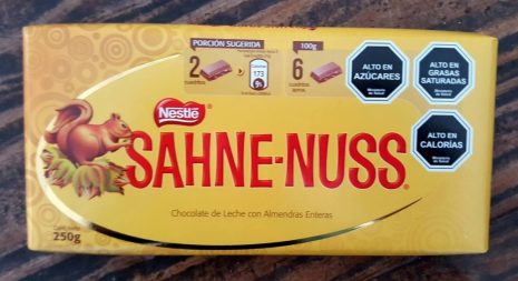 Nestle Sahne-Nuss Beliebteste Schokolade in Brasilien mit Mandeln