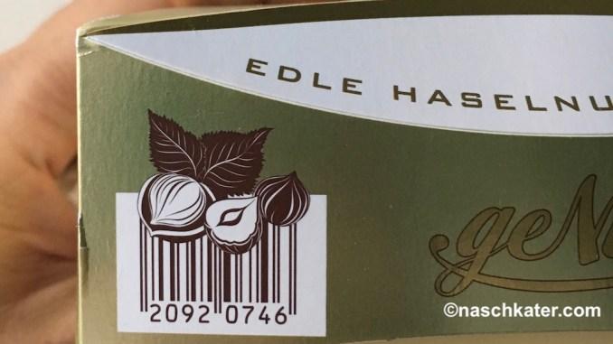 Aldi Piasten geNUSS Imitat Ferrero Küsschen mit kreativem Barcode