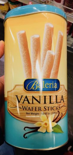 Baleria Vanilla Wafer Sticks Waffelröllchen 370g
