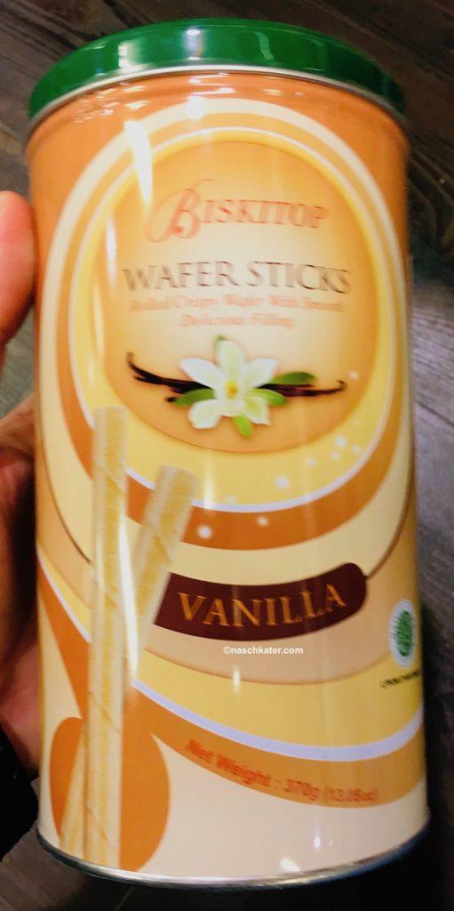 Bisktop Wafer Sticks Vanilla Waffelröllchen