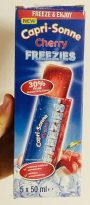 Capri-Sonne Cherry Freezies Lutscheis