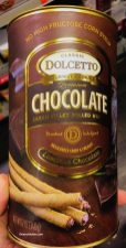 Dolcetto Chocolate Cream Filled Rolled Waffles 340g No High Fructose Corn Sirup Gourmet Cookies