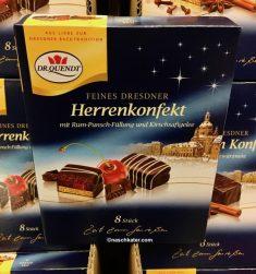 Dr Quendt Feines Dresdner Herrenkonfekt mit Rum-Punsch-Füllung und Kirschsaftgelee