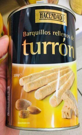 Hacendado barquillos rellenos de tourron Waffelröllchen mit Mandelfüllung Spanien