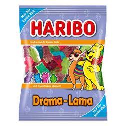 """Haribos buntes """"Drama Lama"""" gibt es temporär auch im Beutel. Ehrlich gesagt finde ich es schade, dass Haribo sich so selten traut, auch mal weniger Farbe zu verwenden. Muss wirklich immer alles so quietschbunt sein? Wäre es nicht mal cool, ein Lama-Weingummi überwiegnd weiß herzustellen?"""