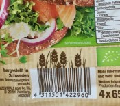 Lidl Toasties mit kreativem Barcode