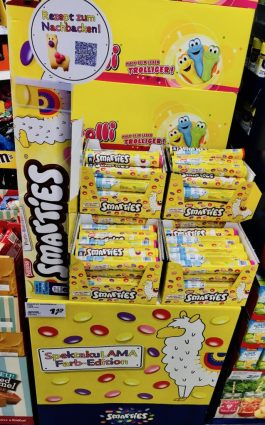 Nestlé Smarties Display Lama Spektakulama Farb-Edition