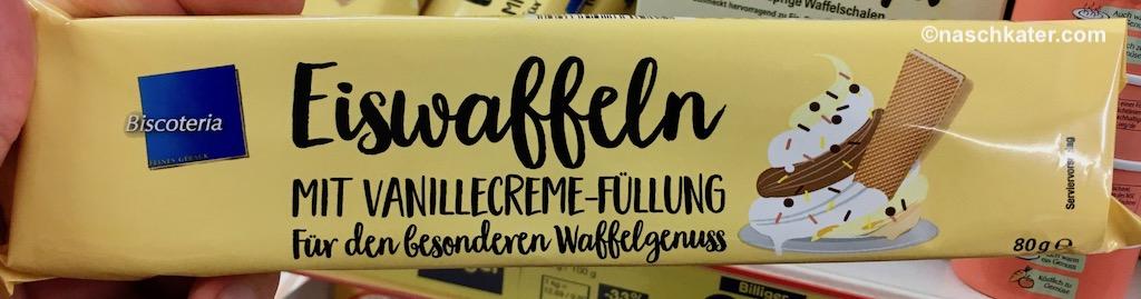 Netto Biscoteria Eiswaffeln mit Vanillecreme-Füllung