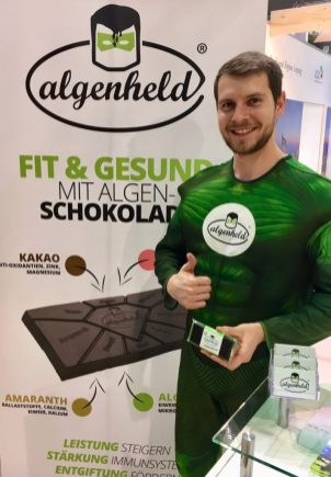 Algenheld-Schokolade auf der IGW 2019 ©Oliver Numrich