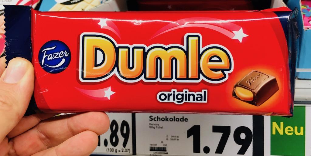Fazer Dumle original Schokoriegel mit flüssigem Karamellkern