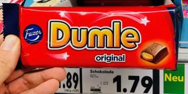 Fazer Dumple original Schokoriegel mit flüssigem Karamellkern
