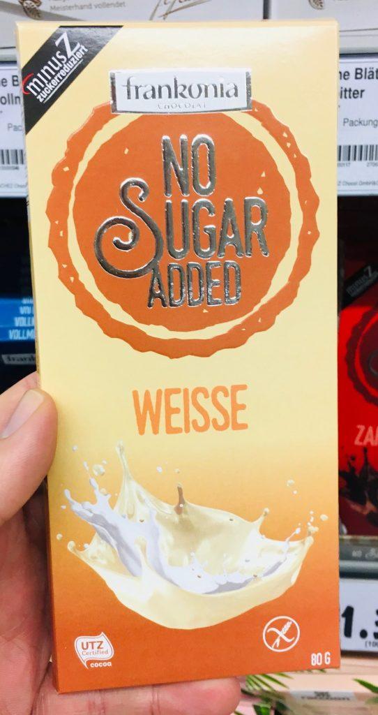 Frankonia No Sugar Added WEisse Schokolade