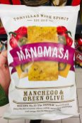 Manomasa Manchego+Green Olive Tortilla Chips