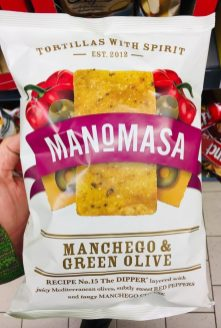 Manomasa Manchego+Green Olive Tortilla Chips