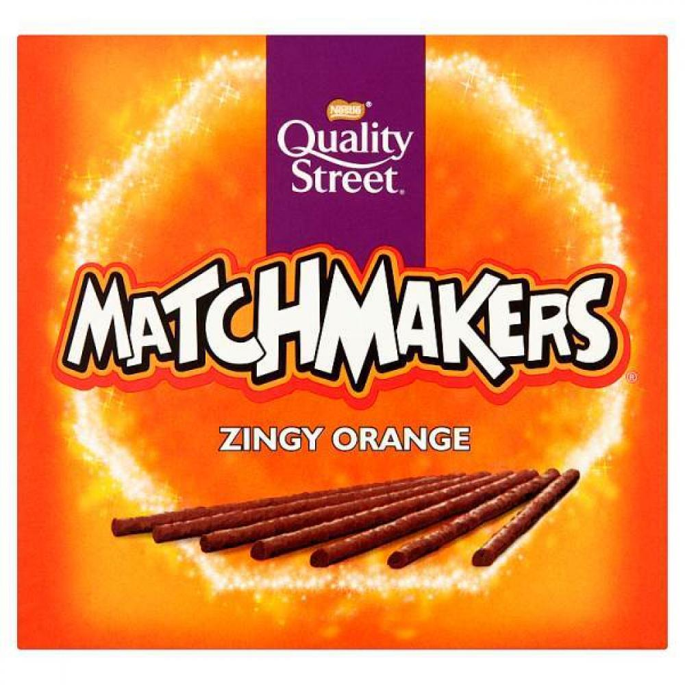 Quality Street Matchmakers Sticks Zingy Orange 130 Gramm