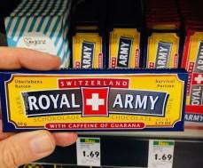 Royal Army Switzerland Schokoriegel Überlebensration mit Koffein und Guarana 50 Gramm