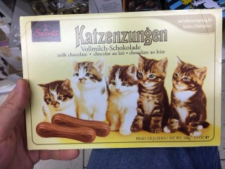 Schachtel mit Katzenzungen von Sarotti