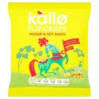 Und Kallo-Chips mit Wasabi- und Soya-Sauce.