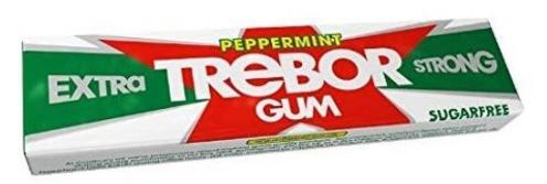 Trebor Peppermint Kaugummi Extra Strong Zuckerfrei