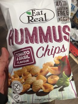 EtaReal Hummus Chips Tomato+Basil Flavour