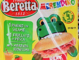 Fratelli Beretta Merendino Rexy Pausensnack Panino-Salami-Pfirsichsaft