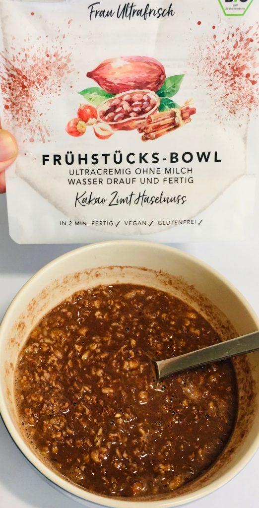 Frau Ultrafrisch Frühstücks-Bowl Kakao Zimt Haselnuss
