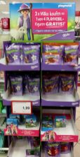 Milka POS Display Playmobil-Figur geschenkt