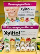 Miradent Xylitol Chewing Gum Apotheken-Display