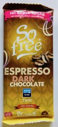Plamil So free Espresso Dark Chocoalte Thin Tafel