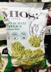 Risi Mios! Chips de Maiz Aspinaca Gemüsechips mit Spinat