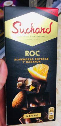 Orangenschokolade Suchard ROC Mandel mit Orange Tafelschokoade