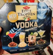 Trumpf Edle Tropfen in Nuss Vodka Lounge Cocktail Spezialitäten Cosmopolitan Vodka Lemon Moscow Mule Vodka Gin