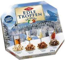 Trumpf Edle Tropfen in Nuss Winterspezialität Haselnusslikör-Marillenbrand-Williamsbirne-Vodkafeige 250G