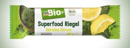 dm Bio Superfood Riegel Spirulina Zitrone 40Gramm
